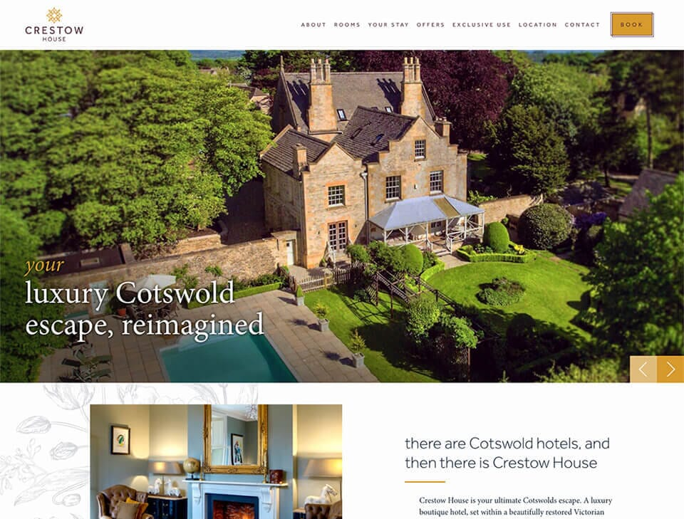 crestow house wordpress website
