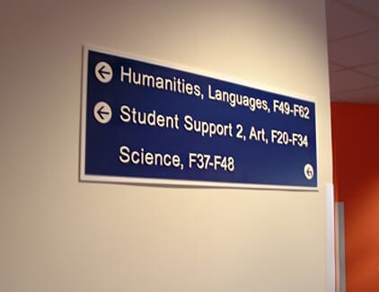 Wall Mounted Directional Sign