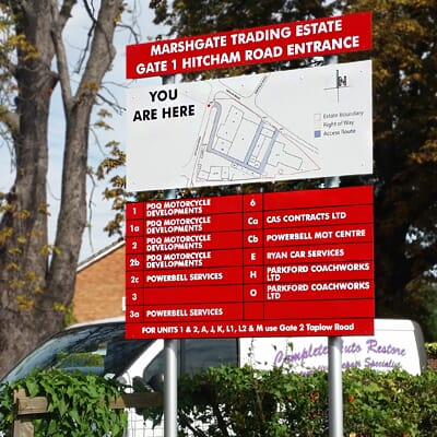 Industrial Estate Sign